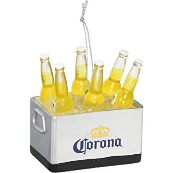 Amazon Com Cooler Filled With Corona Beers Christmas Holiday Ornament 3 Inches Home Kitchen