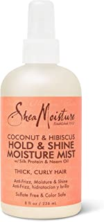 Shea Moisture Coconut and Hibiscus Hold and Shine Moisture Mist, 237 ml
