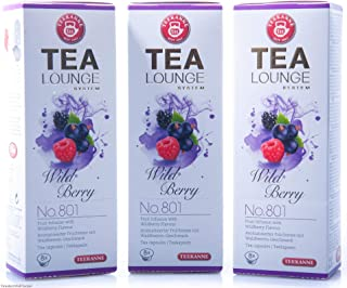 Teekanne Tealounge Kapseln - Wild Berry No. 801 Früchtetee 3x 8 Kapseln