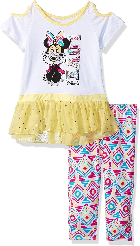 Minnie Set de 2 Leggings en Coton b/éb/é Fille