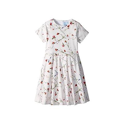 Lanvin Kids Bloom Short Sleeve Dress (Little Kids/Big Kids) (White/Multi) Girl