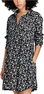 Denim & Supply Women's Floral-Print Shirtdress Marrion Floral Navy Combo Small