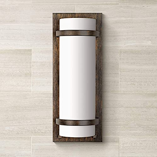 new arrival Minka Lavery 341-357 2 Light Wall Sconce in Contemporary Style - 17.25 inches Tall by outlet online sale 6.5 inches Wide, 2021 Iron Oxide Finish with Etched White Glass sale