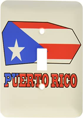 3dRose lsp/_55483/_2 The Flag Outline map and Name of The Country Puerto Rico Double Toggle Switch