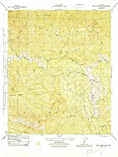 YellowMaps Devils Heart Peak CA topo map, 1:31680 Scale, 7.5 X 7.5 Minute, Historical, 1944, Updated 1944, 21.8 x 17.8 in