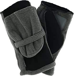 Isotoner Women's Fleece Lined Stretch Tech Flip Mitten