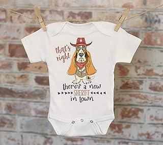 b4c643fa94b0fb That's Right There's A New Sheriff In Town Onesie®, Funny Onesie, Dog Onesie