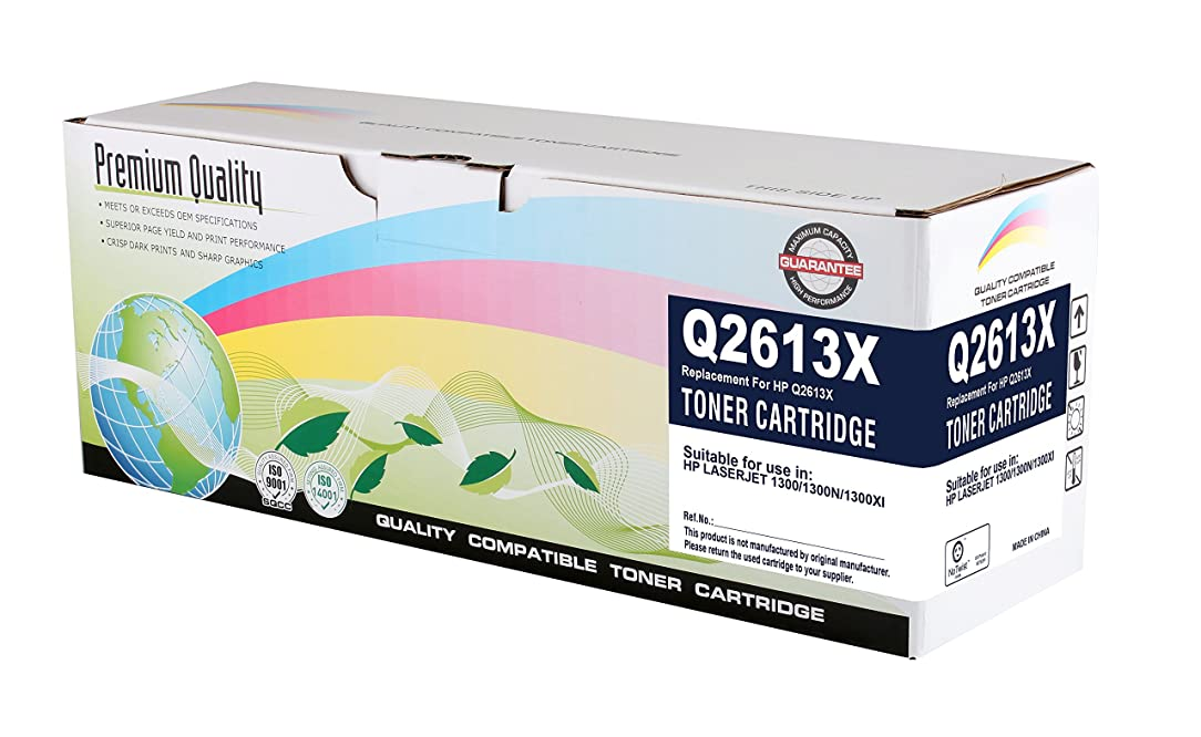 Print Rite Black Toner Cartridge Compatible with The HP (HP 13X) Q2613X