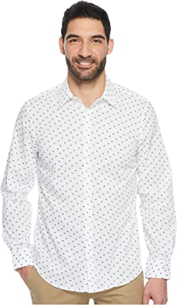 Perry Ellis - Long Sleeve Scattered Paisley Dress Shirt