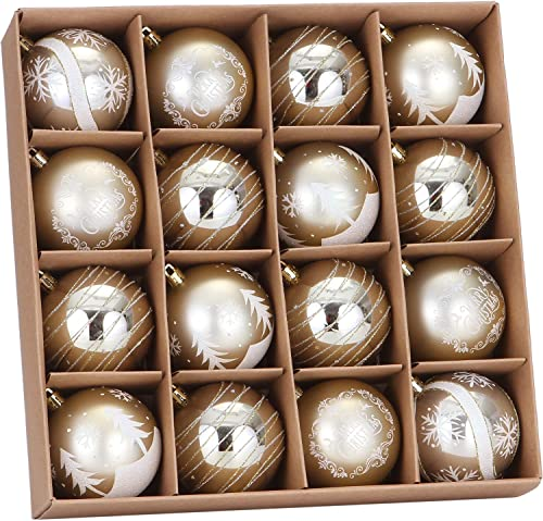 """Sea Team 80mm/3.15"""" Delicate Painting & Glittering Shatterproof Christmas Ball Ornaments Decorative Hanging Christmas..."""
