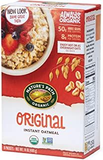 Nature's Path Organic Instant Oatmeal, Original, 48 Packets (Pack of 6, 14 Oz Boxes)