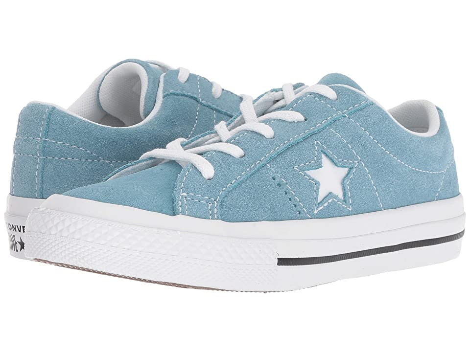 Converse Kids One Star Ox (Little Kid) (Shoreline Blue/Black/White) Boy