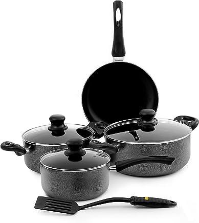 Royalford Premium Cookware Set Of 8 Pieces, Ceramic, Rf4999, Multi Color