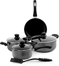 Royalford Premium Ceramic Non-stick Cookware Set, Grey, RF4999, 8 Pieces