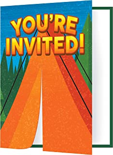 Creative Converting 329324 (8 ct) Camp Out Invitations, One Size, Multicolor