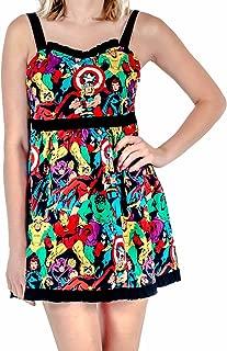 Marvel Super Heroes All Over Sweetheart Dress