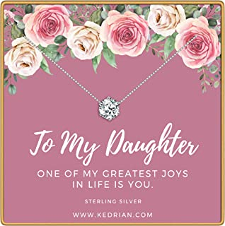 KEDRIAN Daughter Necklace, 925 Sterling Silver, Daughter Gifts, Mother Daughter Gift, Daughter Necklaces, Mother Daughter Necklace, Gifts for Daughter, Daughter Pendants for Women
