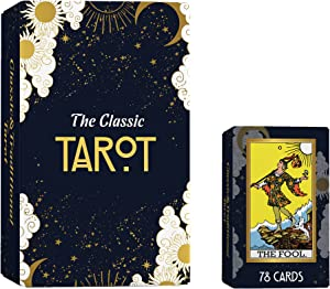 Hunnee Tarot Cards Deck with Guidebook Set for Beginners and Experts Readers, 78 Tarot Deck Cards with Booklet, Classic Traditional Tarot Deck Standard Size 4.75