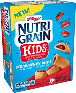 Nutri-Grain Soft Baked Mini Breakfast Bars, Strawberry Blast, 25 ct(Pack of 5, 6.5 oz Boxes)