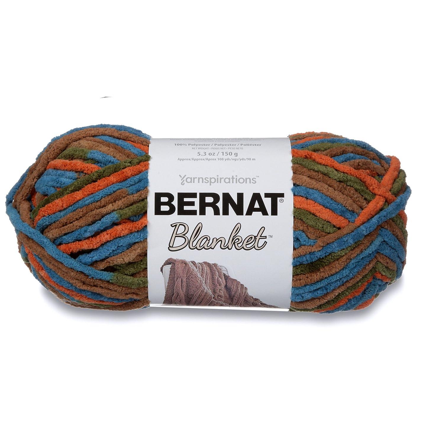 Bernat Blanket Super Bulky Yarn, 5.3oz, Guage 6 Super Bulky, Cozy Cabin