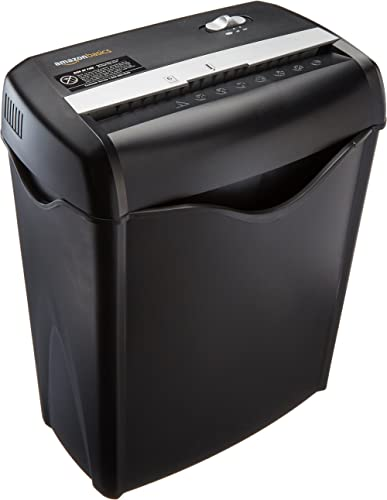 Amazon Basics 6-Sheet Cross-Cut Paper and Credit Card Home Office Shredder