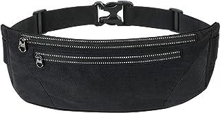 کیف کمری WAMEDA مخصوص دویدن مردانه و زنانه کمربندهای تناسب اندام مد کیف کیف قفسه سینه چند منظوره تجهیزات بیرونی کوچک کیف تلفن همراه ضد عرق قابل تنظیم (مشکی)