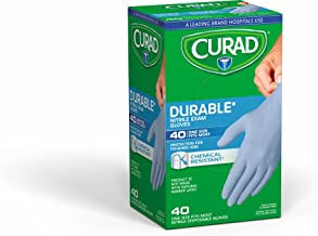 Curad Nitrile Exam Glove PF Powder Free, One Size Fits Most, 40ct