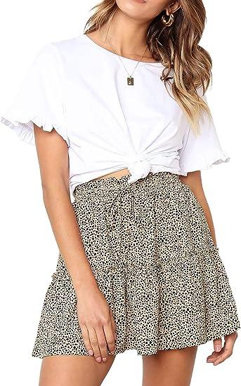 short skirt print