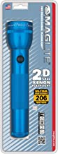 Maglite Heavy-Duty Incandescent 2-Cell D Flashlight, Blue