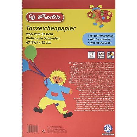 Herlitz 229302 Papier à dessin teinté Bloc A3 10feuilles