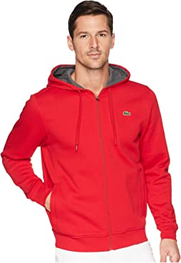Lacoste Full Zip Hoodie Fleece Sweatshirt