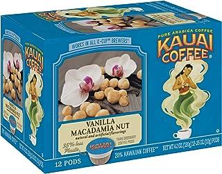 Kauai Coffee Single Serve Pods, Vanilla Macadamia Nut Flavor – 100% Arabica Coffee from Hawaii's Largest Coffee Grower, Co...