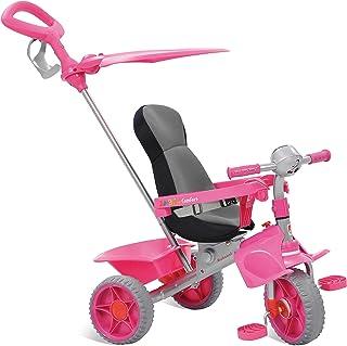 Triciclo Smart Comfort Reclinável, Bandeirante, Rosa