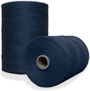 100% Cotton Loom Warp Thread (Navy Blue), 8/4 Warp Yarn (800 YARDS), Perfect for weaving: carpet, tapestry, rug, blanket or pattern - Warping thread for ANY LOOM
