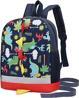 حقيبة ظهر للأطفال الصغار للأولاد مع حزام على شكل ديناصور أزرق في رياض الأطفال حقيبة للكتب