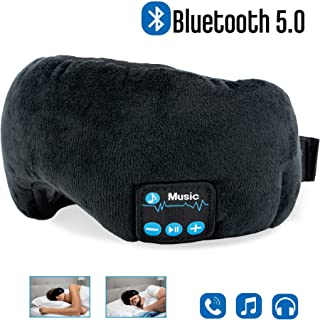 Bluetooth Sleep Eye mask Headphones- Adjustable and Washable- Noise Cancelling Sleeping Eye Mask Bluetooth, Built in Speakers, Microphones, Hands Free, for Sleeping, Meditation, Travel. by: Lomon USA