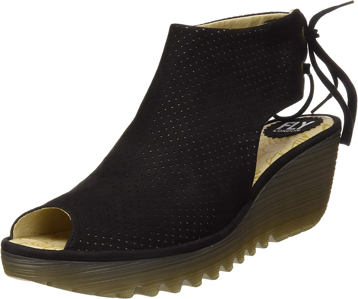 Fly London Women's Ypul799 Peep Toe Lace Up Ankle Boot