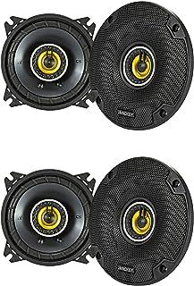 Kicker CS Series CSC4 4 Inch Car Audio Speaker with Woofers, Yellow (2 Pair) photo
