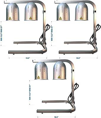 Food Warmer unique avec 2 Tea Lights frottement Chrome Plaque Brûleur 2 x PC
