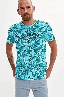 DeFacto Çiçekli Slim Fit T-shirt