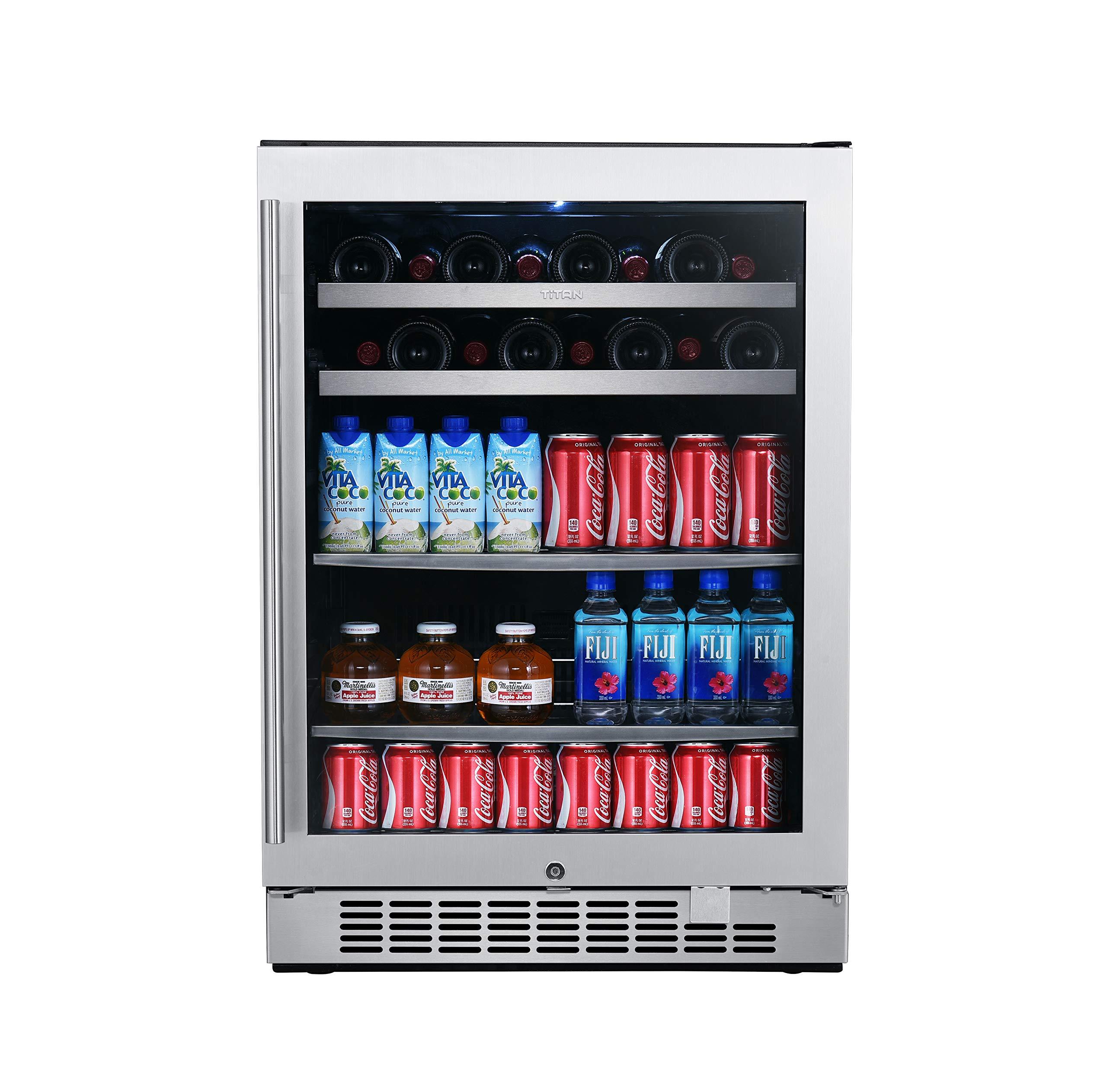 Titan Beverage Lighting Seamless Door Left Open