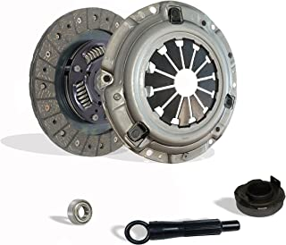 Clutch Kit Works With Honda Civic Crx Base Cx Dx Ex Lx Rt Si Hf 1990-1991 1.6L L4 1.5L l4 GAS SOHC Naturally Aspirated (D15; D16; all model with ZC motor w/cable tranny)