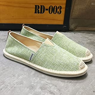 YaNanHome Chaussures Bateau Chaussures Homme Chaussures de Toile de Lin d'été Hommes Chaussures de Toile Casual Chaussures...
