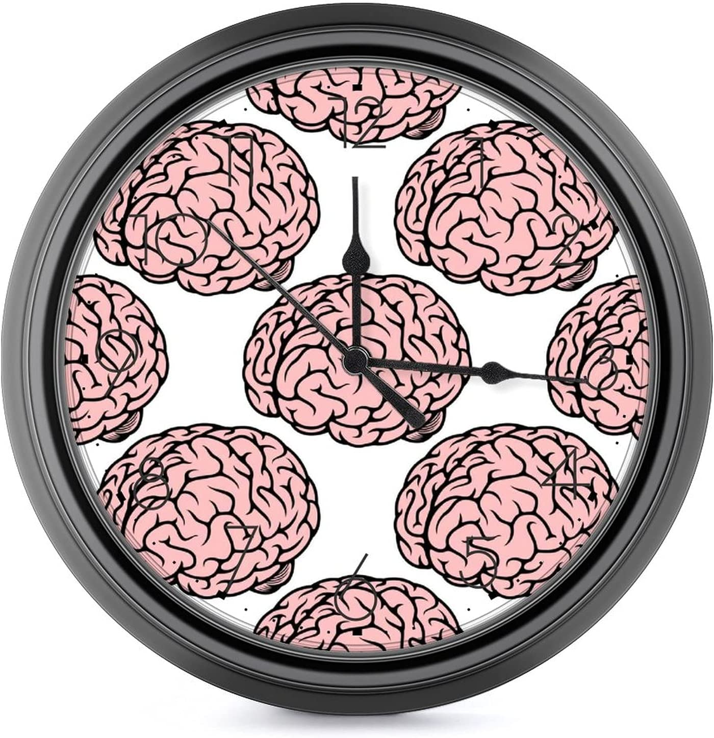 Pink Brain 10 inch Large Clock-Silent and sold out tick-Free Cl Wall Sale price