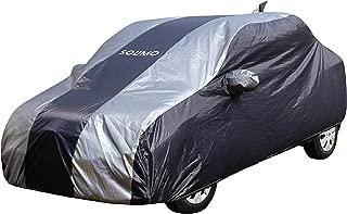 Amazon Brand - Solimo Honda Amaze Water Resistant Car Cover (Dark Blue & Silver)