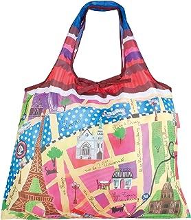 PRAIRIE DOG Designers 2-WAY Shopping Bag (Map of Paris)