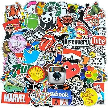 Colorful Skull Head Waterproof Stickers Suitcase 100 Sheets Favorite Suitcase Guitar Car Bike Helmet Notebook Stickers Skull DIY Toy Sticker Waterproof Sticker Set Snowboard