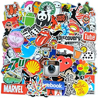 Cool Stickers Pack, 100 Pcs Vinyl Waterproof Stickers for Laptop, Luggage, Skateboard, Car, Motorcycle, Bicycle Decal Graf...