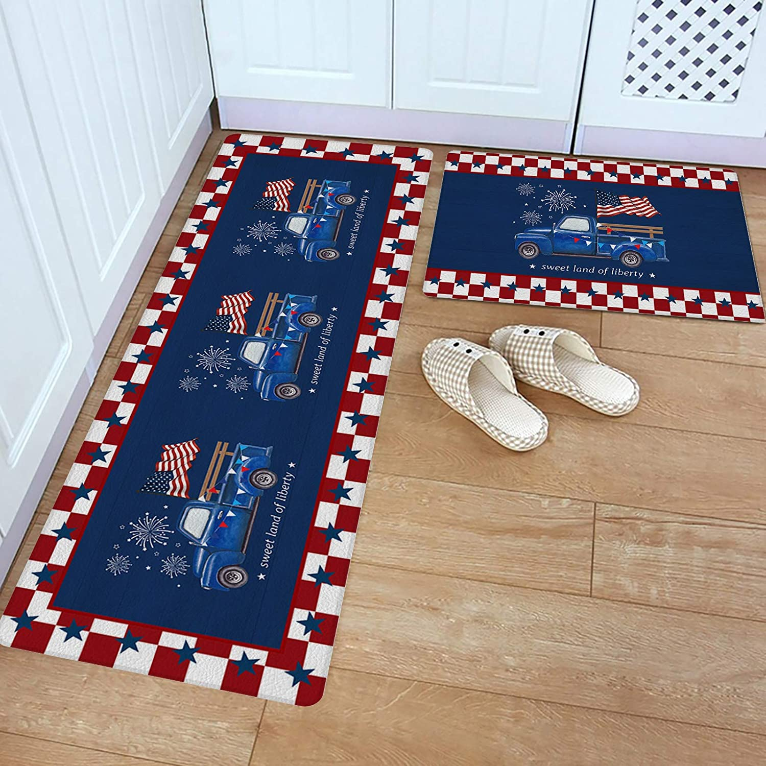 Kitchen Rug Set 2 Piece PVC B Mat Mail order Independence Leather Floor favorite Day