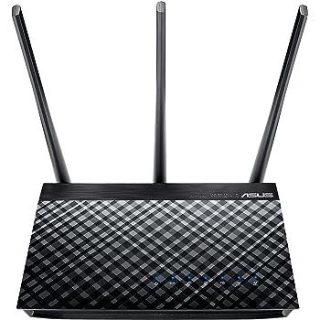 Asus DSL-AC750  Modem Router Wireless, 2,4/5GHz, Dual Band 802.11, ADSL e VDSL a 100 MBps, 3 Antenne Esterne, Velocità AC750